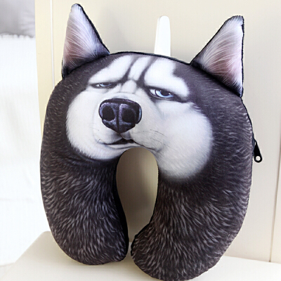 3D狗狗二哈萨摩秋田 午休U枕头枕u型枕头护颈枕颈椎u形枕脖子午睡 发货周期:一般在付款后2-90天左右发货,具体发货时间请以与客服协商的时间为准