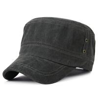 帽子男士秋冬季新款休闲平顶帽户外全棉军帽保暖帽鸭舌帽