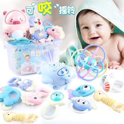 【跨店2件5折】新生婴儿玩具0-1岁摇铃套装组合 幼儿宝宝益智早教响铃手铃