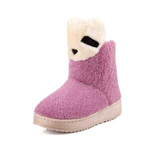 O'SHELL法国欧希尔新品冬季113-X-701韩版磨砂绒面平跟女士雪地靴