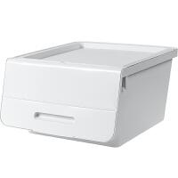 物有物语 储物箱 前开式杂物衣柜衣服塑料整理盒厨房零食置物儿童玩具收纳箱