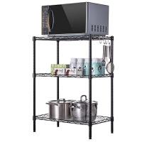 心家宜厨房置物架层架落地浴室收纳架整理架金属三层架隔板储物架