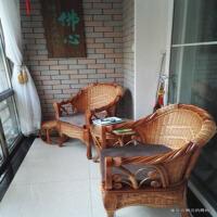 真藤椅三件套休闲椅客厅阳台茶几组合单人靠背腾椅子摇椅藤编桌椅