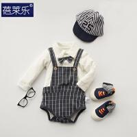 婴儿连体衣服宝宝新生儿哈衣0岁3月服5外出服5睡衣季新年