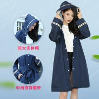 长款风衣式雨衣男女成人徒步单人户外加厚风衣韩国可爱时尚雨披