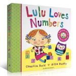 顺丰发货 Lulu Loves Numbers 露露爱数字 幼儿故事图画 纸板翻翻书 露露 Lulus系列 启蒙认知书