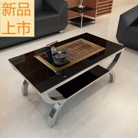 办公室沙发简约会客接待室洽谈小户型三人位皮沙发茶几组合定制