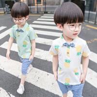 男童夏季套装3-4-5岁潮儿童衣服polo衫短袖两件套男孩短裤
