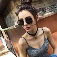韩国墨镜 太阳镜女圆脸个性潮明星款网红同款太阳眼镜