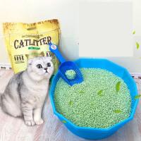 猫砂猫沙除臭无尘绿茶豆腐砂5L猫咪用品满10公斤20斤26省t1p
