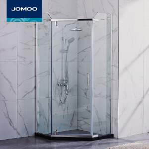 【限时直降】JOMOO九牧整体浴室 钢化玻璃淋浴房 钻石形(弧形)淋浴房 M784