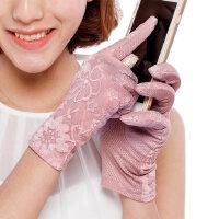 短款触摸屏双层蕾丝开车手套防晒女夏春天防紫外线手套