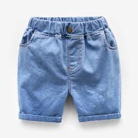 男童牛仔短裤夏季童装2018新款宝宝纯色裤子薄款五分裤儿童中裤潮