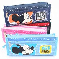 联众 迪士尼文具盒 小学生笔袋 文具袋大容量米奇铅笔袋 DM5620-2 红色1928