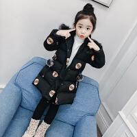 韩版中大童洋气轻薄羽绒儿童冬季棉袄潮女童