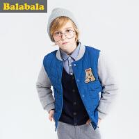 巴拉巴拉童装男童棉衣中大童学生上衣冬装加厚棉袄外套男