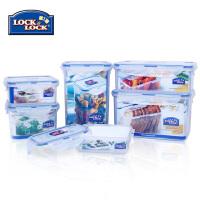 乐扣乐扣普通型塑料保鲜盒6件套 冰箱收纳 HPL818S001