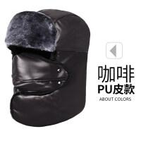 帽子男冬季防风加厚护耳棉帽子户外骑行冬天老年人帽子男保暖新品 均码