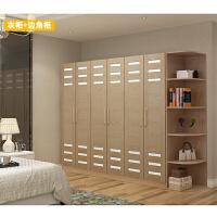 现代板式衣柜简约5木质卧室4组合整体五组装经济型六门大衣柜立柜