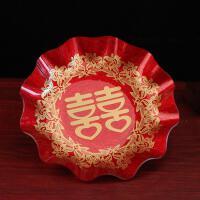 【新品特惠】家居日用品百货结婚喜庆龙凤鸳鸯喜糖水果盘敬茶杯托盘糕点盘批发