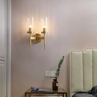 美式轻奢全铜壁灯后现代简约卧室灯具床头灯客厅过道电视墙壁灯饰