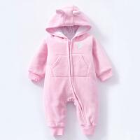 婴儿连体衣服装宝宝装新生儿用品冬装春季棉哈衣03新年