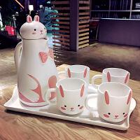 创意陶瓷杯子大容量水杯带盖勺马克杯简约情侣杯牛奶杯咖啡杯套装