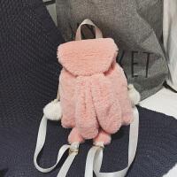 秋冬包包女2018新款韩版可爱兔耳朵双肩包ins软妹毛毛绒单肩背包
