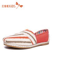 红蜻蜓秋季休闲布面舒适童鞋512Z51F633