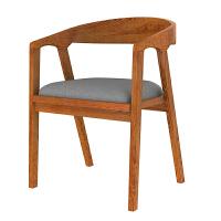 北欧实木餐椅餐厅椅子靠背椅子泡茶圈椅现代简约休闲咖啡馆椅