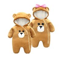 女婴儿连体衣冬季加厚宝宝外出抱衣服秋冬装新生儿外套装