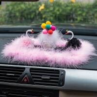 汽车创意个性中控台可爱网红小摆件天鹅装饰车载车内饰品摆件男女