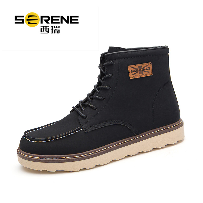 西瑞高帮马丁靴男复古工装短靴英伦时尚男靴子ZC-KB09