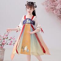 汉服女童夏季薄款唐装襦裙中国风儿童女古装小女孩连衣裙夏装