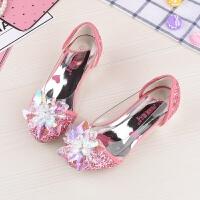 叶罗丽公主鞋春款水晶鞋一脚蹬女童高跟鞋儿童单鞋韩版闪钻夏