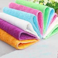 竹纤维不沾油洗碗巾/不易掉毛洗碗布/多功能百洁布/不沾油抹布 10片装花色*