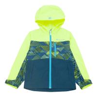探路者童装秋冬款徒步小童山线迷彩印花保暖防风冲锋衣
