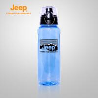 【满100减20/满279减100】Jeep/吉普 户外1L大容量水杯透明太空杯自行车水壶J650070254