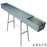 锌铁合金木碳烧烤炉 家用户外便携防锈烧烤箱 多种尺寸可选