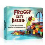 顺丰发货 英文原版 Froggy Gets Dressed 吴敏兰100本必读绘本123 纸板书绘本 3-6岁