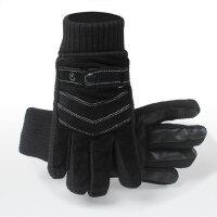 户外骑车手套防寒防风摩托车触屏手套男猪皮手套保暖耐磨