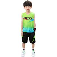 男童夏季无袖背心套装2019新款男孩中大童洋气两件套韩版篮球服潮