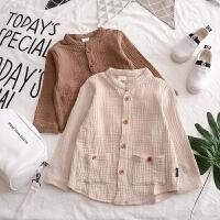 男童纯棉衬衫白色长袖衬衣2018春装春秋韩版新款童装宝宝儿童上衣