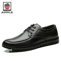 Apple苹果 2016新款男鞋皮鞋男英伦男士商务正装系带休闲鞋5291076