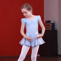 儿童舞蹈服装女童芭蕾舞裙舞表演出服幼儿园练功服短袖