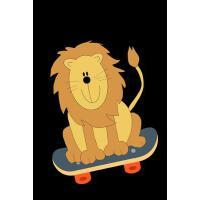 【预订】Lion Skateboarding Notebook: Humor Funny Journal To Writ