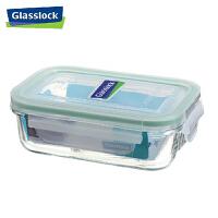 GlassLock/三光云彩 韩国进口钢化玻璃乐扣可微波保鲜盒饭盒四面锁扣-RP519 400ml