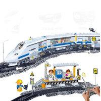 邦宝BanBao 遥控火车模型拼装积木 儿童玩具 火车总站8221