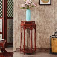 花架花几实木雕花盆景落地置物架中式客厅木花架