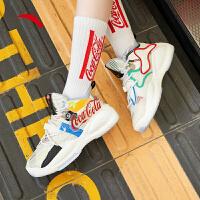 【券后价269】安踏女鞋运动板鞋高帮可口可乐联名款休闲鞋子122038085S